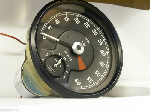 SMITHS REV COUNTER AND CLOCK FOR E TYPE JAGUAR