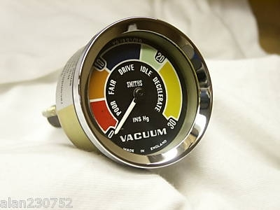 SMITHS COLOURED VACUUM GAUGE